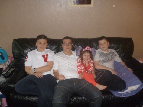 The 4 kids together in a photo at last!