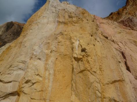 coloured sand at Alum Bay